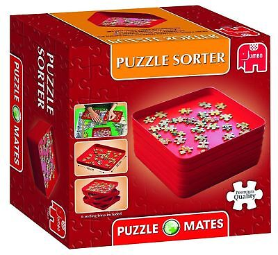 Jumbo Games Puzzle Mates Puzzle Sorter 6 Stackable Sorting Trays • 11.99£