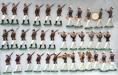 PRUSSIAN INFANTRY ON PARADE 36 FIGURES (LEAD 70mm Approx.) UNKNOWN MAKER. • 110£