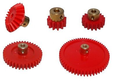 Model Plastic Gears With Brass Centre - Screw Fixing For 4mm Shaft • 1.50£