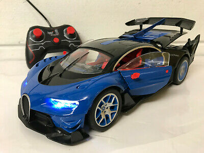 **BUGATTI VEYRON** Radio Remote Control Car LED Lights 1/14 Rechargeable Boxed • 18.99£