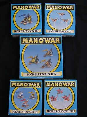 Games Workshop Man O War, High Elf Fleet Multi-listing • 45£