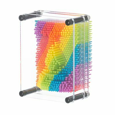 Rainbow Pin Art Creative 3D Gadget Toy Kids Childs Novelty Colourful Gift • 9.39£