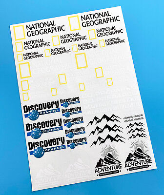 RC Rock Crawler 'DISCOVERY Nat Geo' 10th Scale Stickers Decals RC4WD D90  • 10.95£