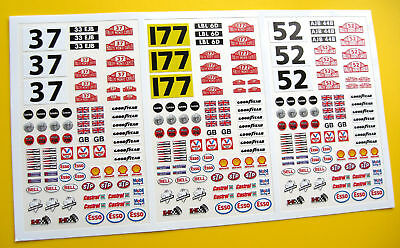 SLOT CAR SCALEXTRIC 1/32nd Monte Carlo Minis Stickers • 6.95£