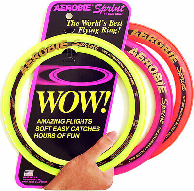 Aerobie 10  Sprint Ring Flying Disc Outdoor Frisbee Toy Game Orange/Blue/Yellow • 9.78£