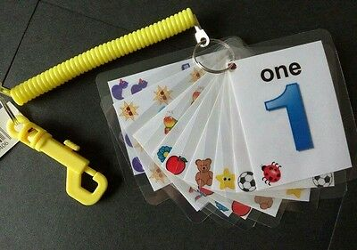 Children's 1-10 Number Flash Cards New Teaching Aides • 4£