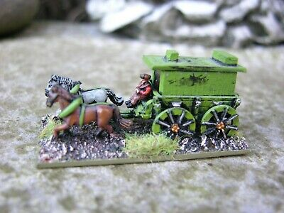 Warmaster Scale, Horse Drawn Wagon, Painted • 30£
