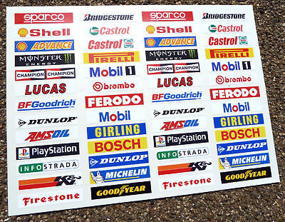 SLOT CAR SCALEXTRIC 1/32nd Barrier Stickers Decals X52! • 8.95£