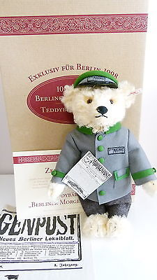 Steiff Bear - Berliner Morgenpost 1998 - 655425  - Limited - Box And Cert • 115£