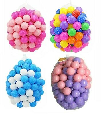 Kids Plastic Soft Play Balls Children Ball Pits Pen Pool Bath Play Room Balls • 13.95£
