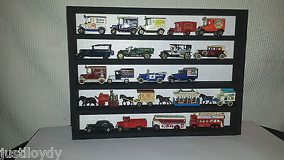 Model Car Wall Display Rack-matt Black Wood And White Felt Backing • 19£
