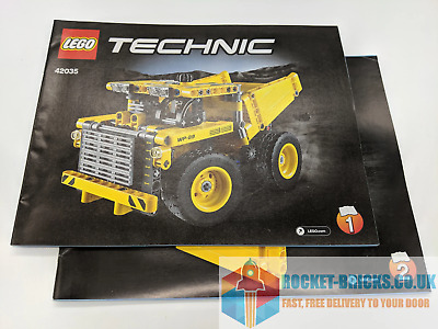 ⭐️LEGO TECHNIC 42035 MINING TRUCK - 2 X INSTRUCTION MANUALS - BRAND NEW⭐️ • 7.99£