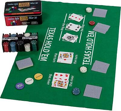 Pro Poker Texas Hold'em Set In Tin • 14£
