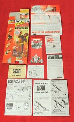Action Man 40th Box, Paperwork & Manual ,Talking Commander With Gripping Hands • 9£