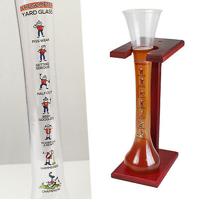 Yard Of Ale Beer Glass Stand Plastic 1.5 Pint 25oz Fun Drinking Game Stag Party • 6.99£