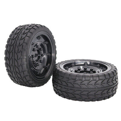MagiDeal 2x RC Wheel Rim Tire Set For HSP Wltoys HPI 1/10 Scale On Road Car • 4.99£