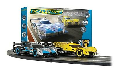 Scalextric Set C1412 Ginetta Racers Set - Complete Starter Set With Lap Counter • 85.49£