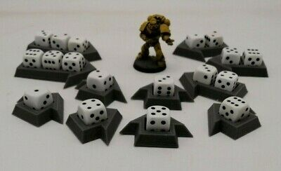 12mm Dice Holder, Wound Markers, 40K, AOS, Warhammer, Legion, Wargaming • 3£