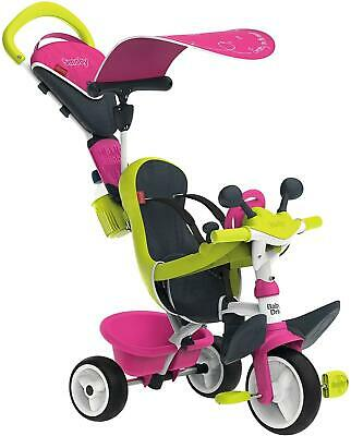 Smoby Baby Driver Confort Trike Tricycle Pedal Or Push Kids Ride On Toy Pink • 94.95£