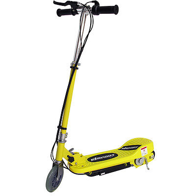 Kids Electric Scooter Yellow 120w Ride On Battery Childrens Adjustable Fast Bike • 64.99£