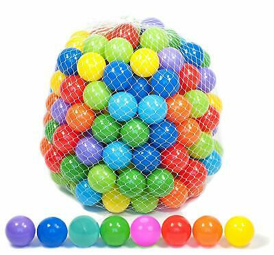Plastic Balls For Children For Ball Pits Kids Multi Coloured Toys Play Pool  • 16.95£