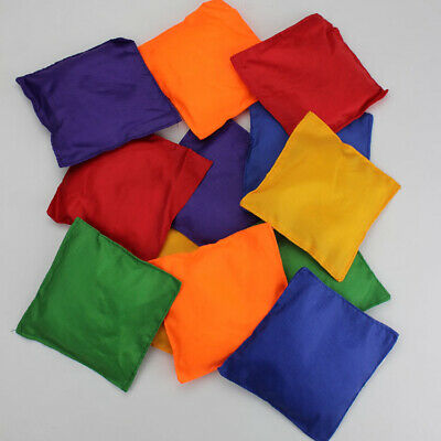 Sports Day Juggling Bean Bags Throwing Catching Play PE Game Assorted Color Pack • 3.99£