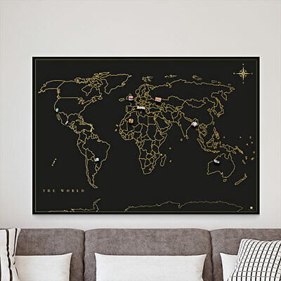 Magnetic Wall Travel Map • 43.98£