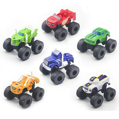 6pcs/set Blaze And The Monster Machines Vehicles Toy Racer Cars Trucks Kids Gift • 8.98£