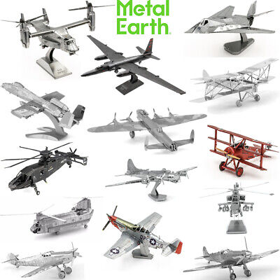Metal Earth 3D Model Kit - Self-Assembly Laser Cut Steel Miniatures - 26 Designs • 10.89£