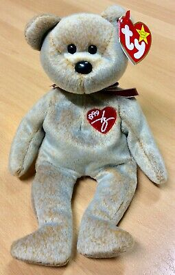 Ty Beanie Babies 1999 Signature Bear - Mint With Tags • 6£
