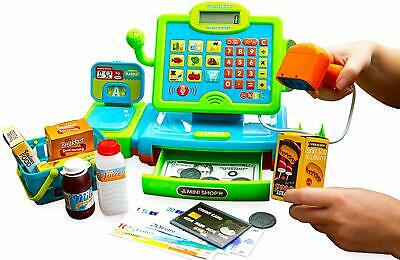 Think Gizmos Interactive Cash Register Toy With Scales, Scanner, Money, Food ... • 19.95£