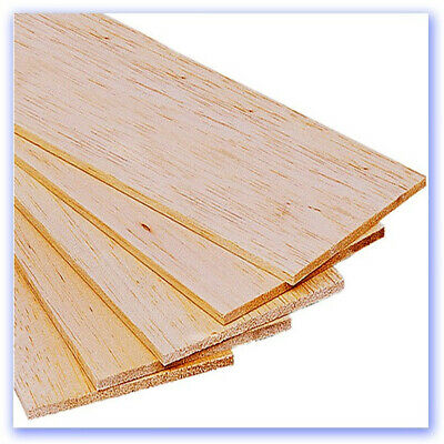 Balsa Sheets 3/16 X 4in X 18in 5 Pack • 9.53£