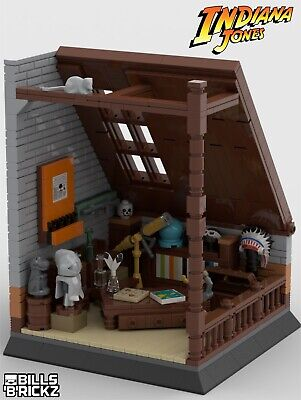 **SALE** Lego Indiana Jones MOC Attic Display PDF Instructions Only • 4.79£