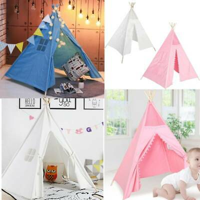 Large Kids Teepee Tent Wooden Wigwam Playhouse Play Tent Game Gift For Boy Girl • 20.59£
