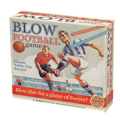 House Of Marbles Blow Football Game Fun Toy Great Christmas Gift Idea • 7.99£