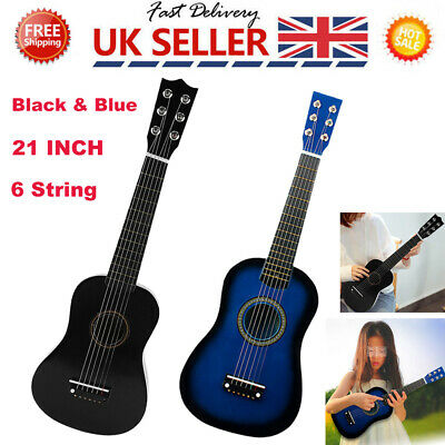 21  Children's Kids Wooden Acoustic Guitar Musical Instrument Child Kid Toy • 11.69£
