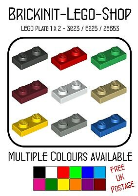 Lego 1x2 Plate (3023) X20 In A Set  **Choose Your Colour** NEW City Friends • 1.89£