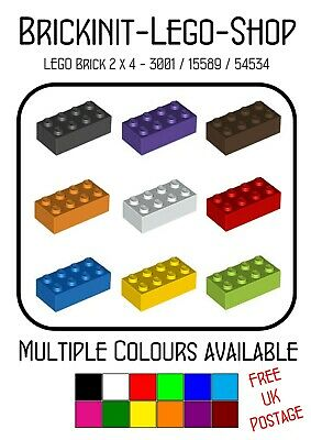 Lego 2x4 Brick (3001) X10 In A Pack *Choose Colour* Star Wars FREE UK POSTAGE • 2.45£