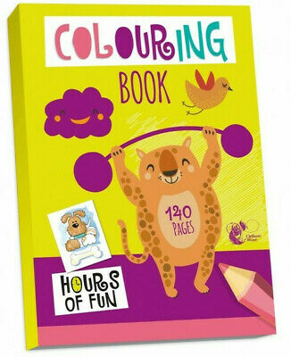JUMBO 140 Page A4 COLOURING BOOK - KIDS BORED CHILDREN HOME OFF SCHOOL ISOLATE • 3.94£