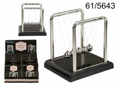 MINI NEWTONS CRADLE Science Accessory Physics Desk Balls Balance Swing Steel Toy • 5.49£