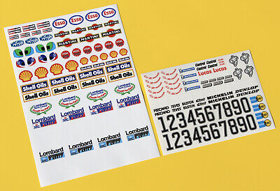 RC 10th Scale LOMBARD RAC RALLY GROUP B 1980s Stickers Decals Door Numbers Logos • 11.95£