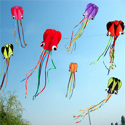 Large Octopus Kite With 30M Line Kids Fun Outdoor Beach Park Holiday Weekend • 3.98£