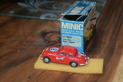 TRIANG MINIC MOTORWAY M1568 3.8 Litre Rally Jaguar Excellent Boxed Red  • 37£