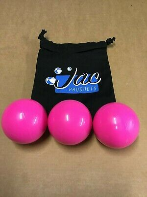 Stage Balls, Juggling, Fun,Circus, Playtime, Various Colours, Set Of 3 + Bag • 11£