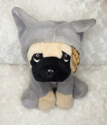 NEW Paws Pug Dog Plush With Elephant Hoodie Cute BNWT  • 8.99£