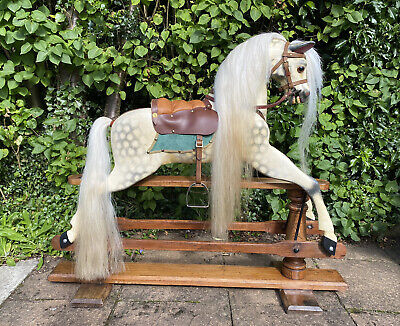 Beautiful Antique Rocking Horse By Brassington & Cooke, Fully Restored • 1,595£