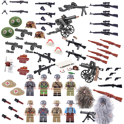 WW2 WWII ARMY Weapons, Guns Helmets & Gear Compatible For LEGO FIGURES UK STOCK • 20.99£