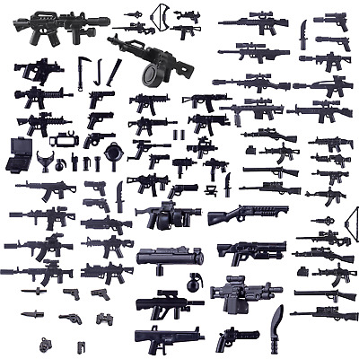 Custom Modern Army Weapons Compatible With Lego SWAT MOC Bulk Pack - UK STOCK - • 8.79£
