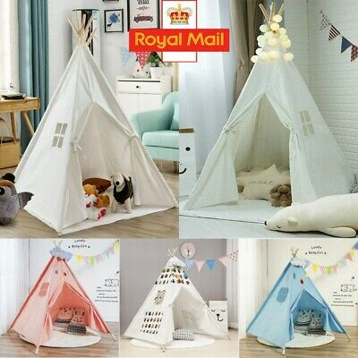 Kids Teepee Wigwam Childrens Play Tent Childs Garden Or Indoor Toy 5.5  Canvas • 24.98£
