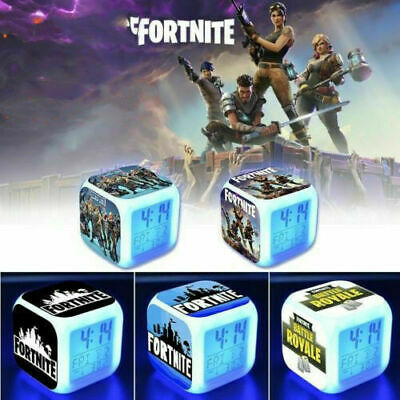 HOT FORTNITE GAME Color Changing Night Light Alarm Clock Kids Toy Game Gift UK • 7.67£